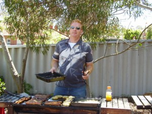 Cooking BBQ for backpackers
