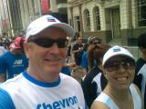 Tony Inman & Jo Small at the Perth City to Surf 2011