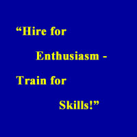 hire for enthusiasm