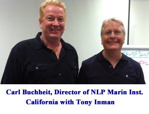 Tony studied under NLP grand master, Dr Karl Buchheit