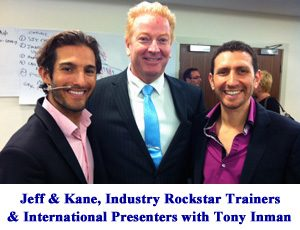 Tony studied under NLP experts Jeff Slayter and Kane Minkus in Sydney and Melbourne