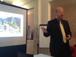 Tony Inman presenting