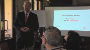Tony Inman leading a business workshop