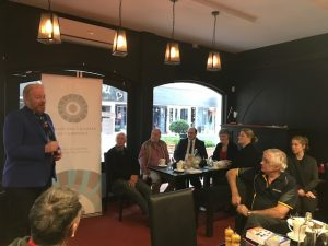 Tony Inman was a featured speaker at the Kalamunda Chamber of Commerce breakfast