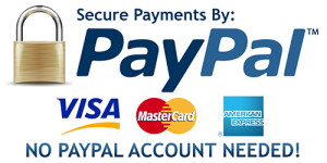 Purchase securely with confidence using Paypal