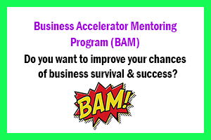 Come to Tony's Business Accelerator Mentoring Program and pick up some new ideas on how to grow your business