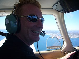 Tony Inman flying from Rottnest to Perth