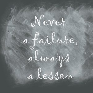 Apparent failure provides opportunities to learn